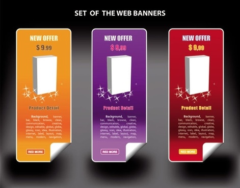color banners banner03 vector