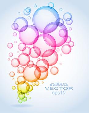 color bubbles elements vector