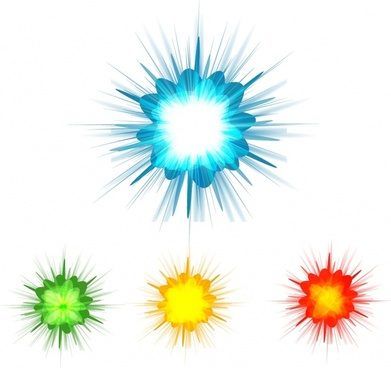 Color Burst Background Set