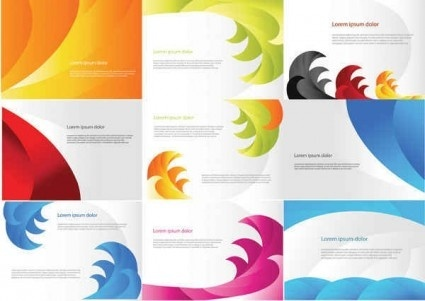 color business cards templates set vector