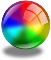 Color Circle With Shadow clip art