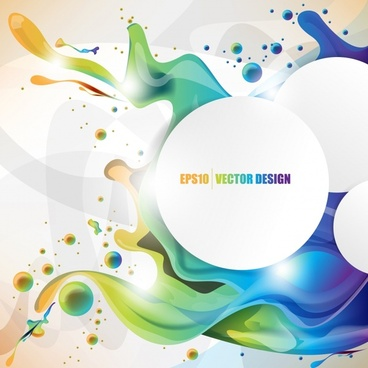 decorative background template shiny colorful modern dynamic liquid