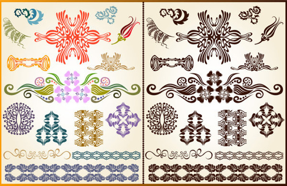 color decorative pattern free vector