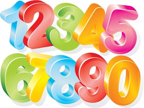 numeral background modern colorful 3d design