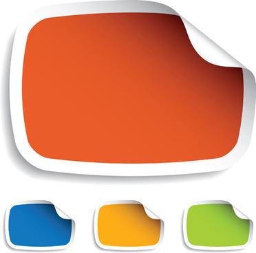 color discount stickers design vector graphics