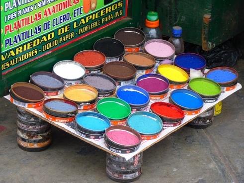 color farbpulver ink cup