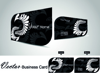 Floral business card vector free vector download 28959 free vector color floral business cards vector reheart