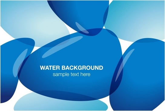 abstract background blue transparent stone shapes decor
