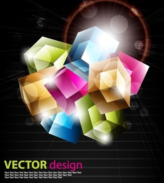 color graphics with dark background vector