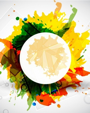 color ink background vector