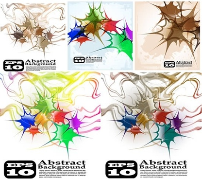 abstract background templates modern colorful grunge ink sketch