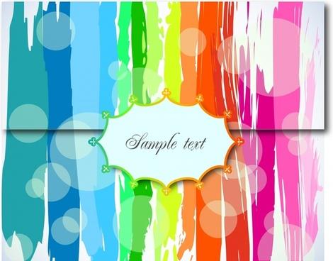 sealed card template modern colorful grunge ink decor