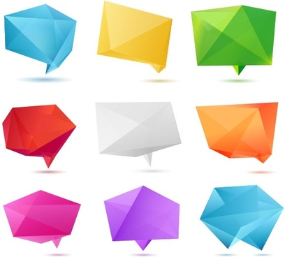 color origami 01 vector