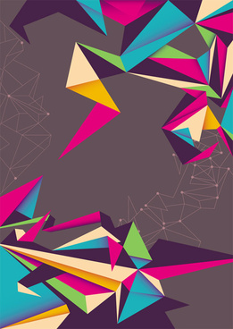 color origami style background