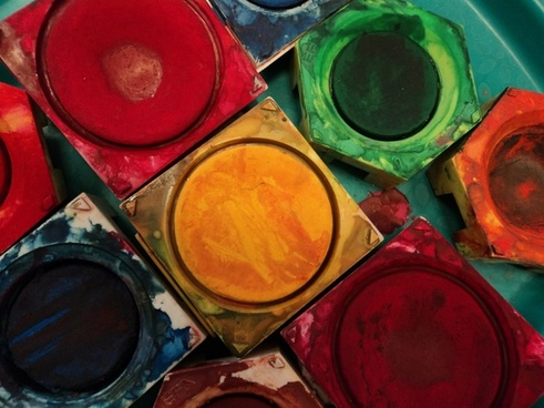 color paint boxes tusche-indian ink