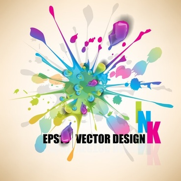 color paint splashes background 04 vector