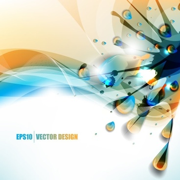 color paint splashes background 05 vector