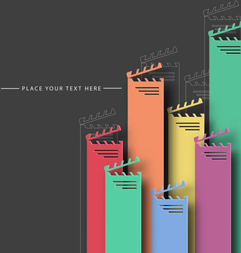 color paper cutting business background vector