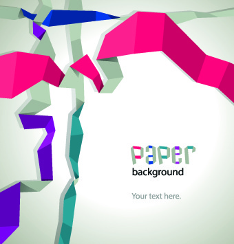 color paper ribbon background graphic
