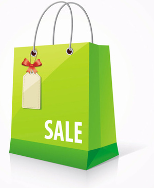 color paper shopping bags design vector