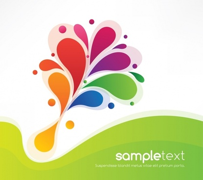 decorative background flat colorful dynamic abstraction