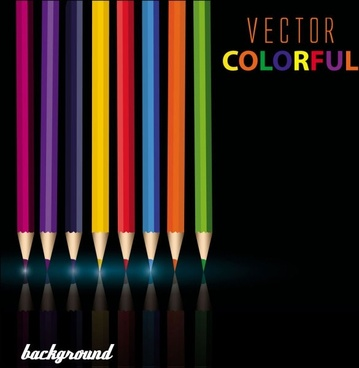 color pencil 01 vector