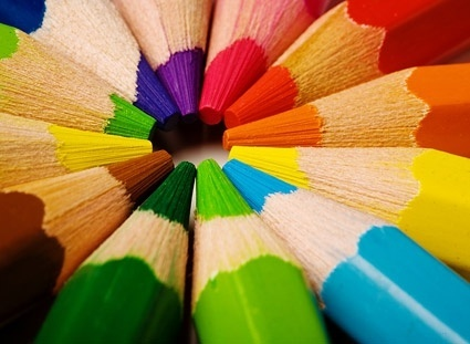 color pencil closeup picture