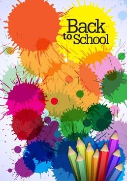 color pencil illustrations 02 vector