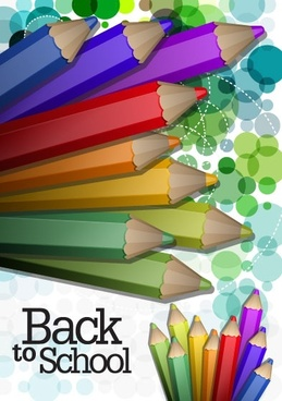 color pencil illustrations 03 vector