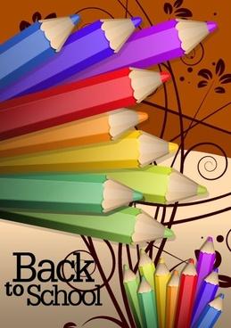 color pencil illustrations 04 vector