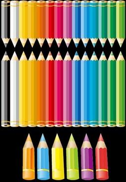 color pencil vector