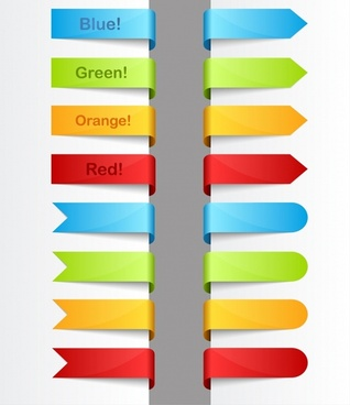 bookmarks templates shiny modern colorful 3d sketch