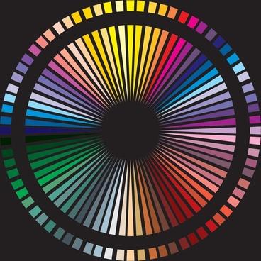 color spectrum vector