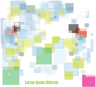 color squares background set