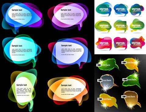 color text dialog frames vector