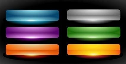 color web buttons set vector