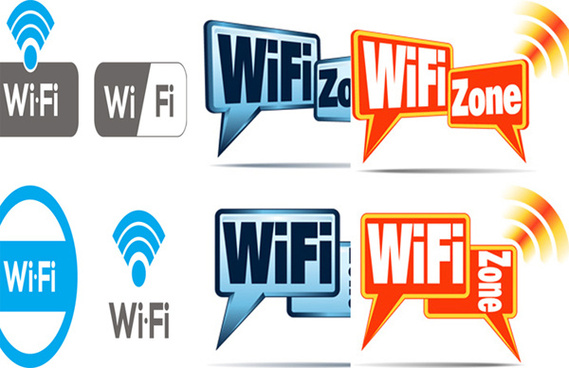 Color wifi icons vector