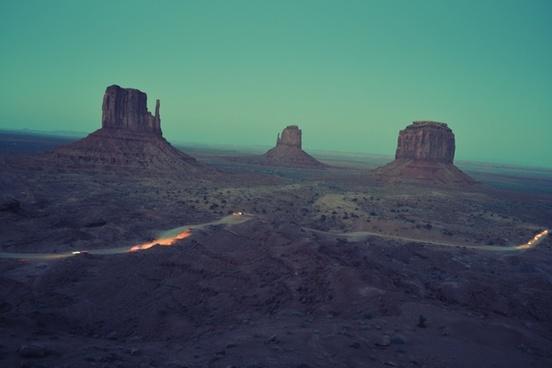 colorado plateau desert evening geology landscape