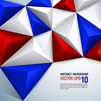 colored 3d shapes background vector