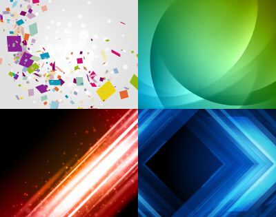colored abstract art background vectors set