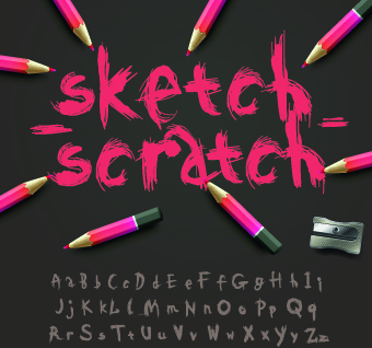 colored alphabet design vector