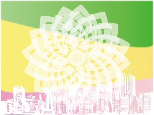 bokeh flower background city backdrop sketch decoration