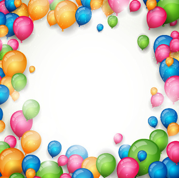 colored balloon with white background