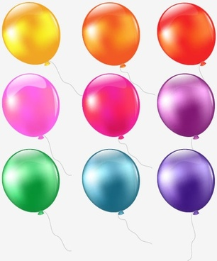 colored balloons 01 vector