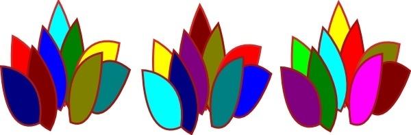 Colored Blocks Fire clip art