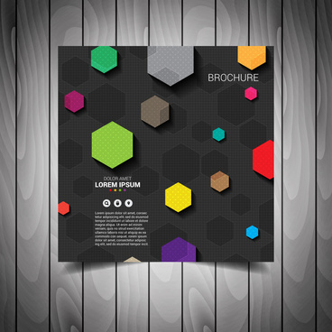 colored business flyer template