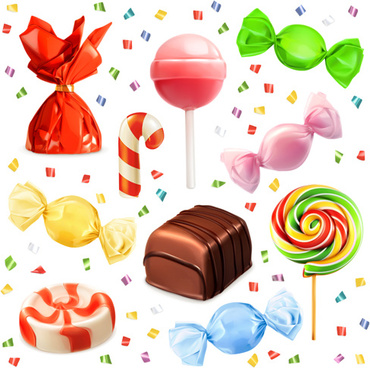 colored candies vector design