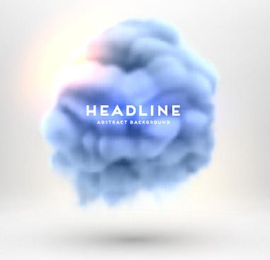 colored cloud blurs background vectors
