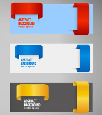 colored corners banners vector