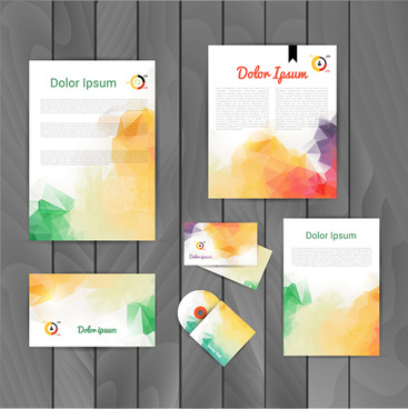 colored corporate templates kit vector